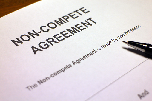 A non-compete clause (often NCC), or covenant not to compete (CNC), is a term used in contract law under which one party (usually an employee) agrees not to enter into or start a similar profession or trade in competition against another party (usually the employer). Some courts refer to these as