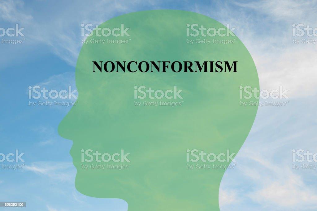 Nonconformism mentality concept stock photo