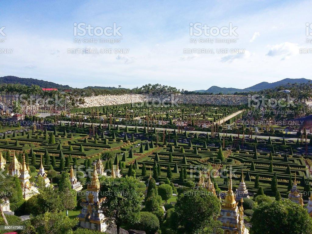 Nong Nooch Tropical Botanical Garden is a 500-acre botanical garden and tourist attraction royalty