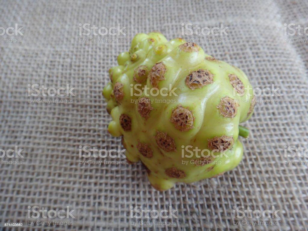 Noni fruit stock photo