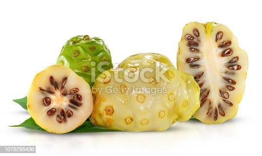 istock Noni or Morinda fruits isolated on white 1075295436