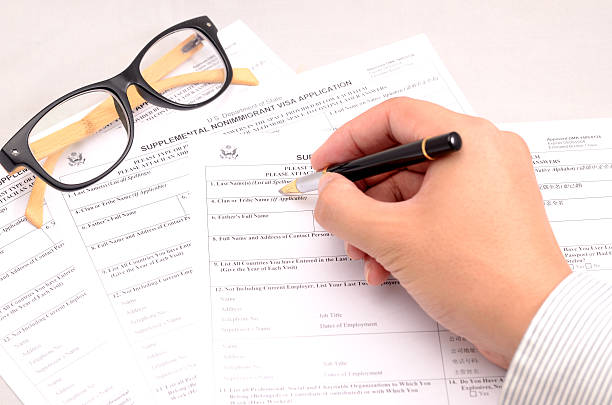 nonimmgrant application form stock photo