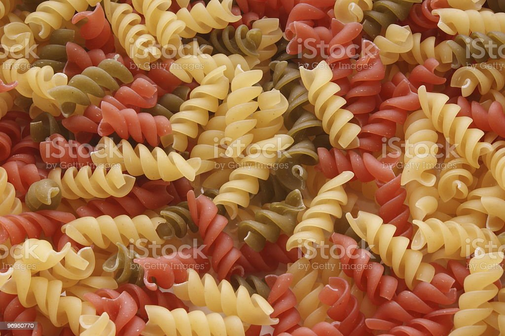 noodle in green red and yellow royalty-free stock photo
