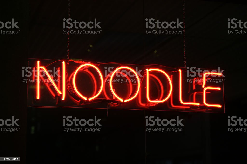 'Noodle' Neon Sign stock photo