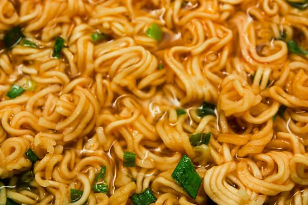 noodle soup close-up stock photo