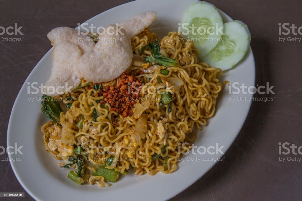 noodle typical Indonesia named Indomie Goreng