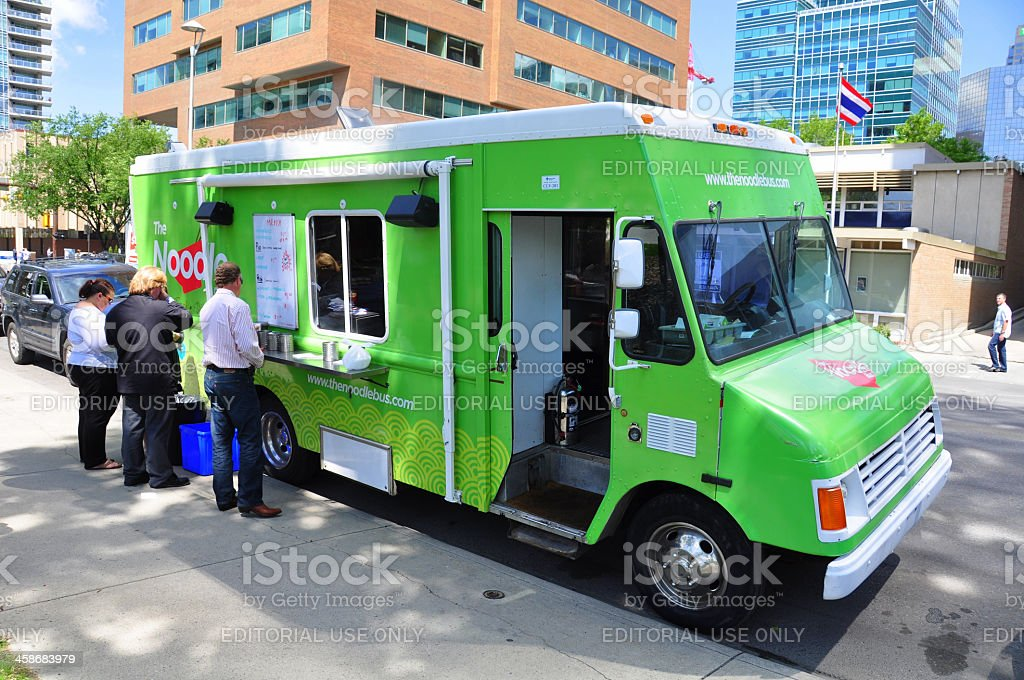 Noodle Wagon food truck stock photo