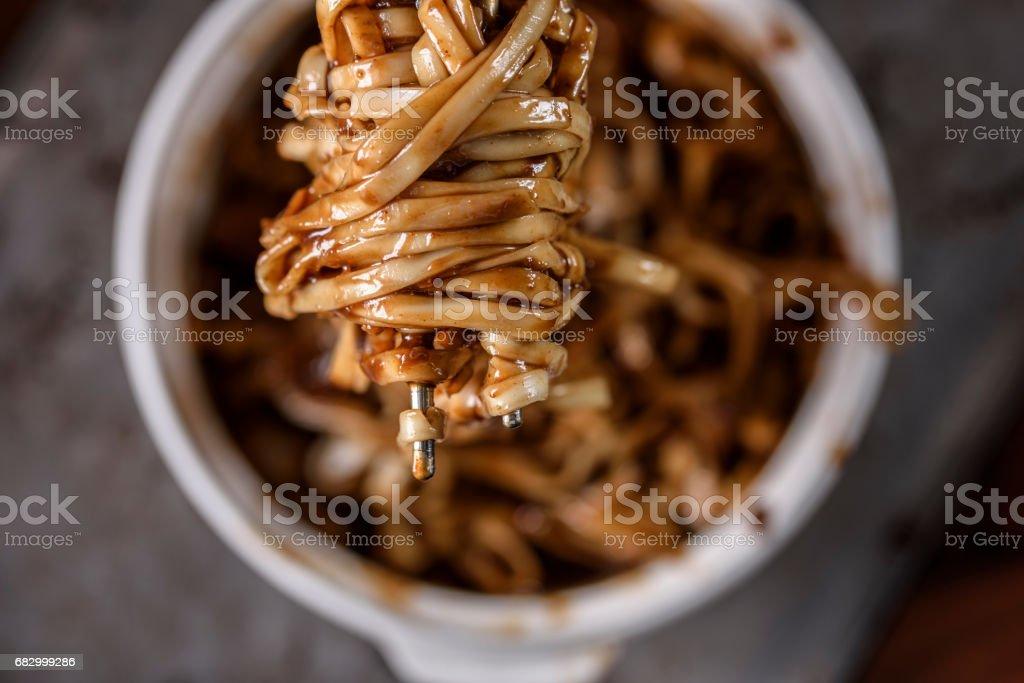Noodle with Black Bean Sauce, Jjajangmyeon royalty-free stock photo