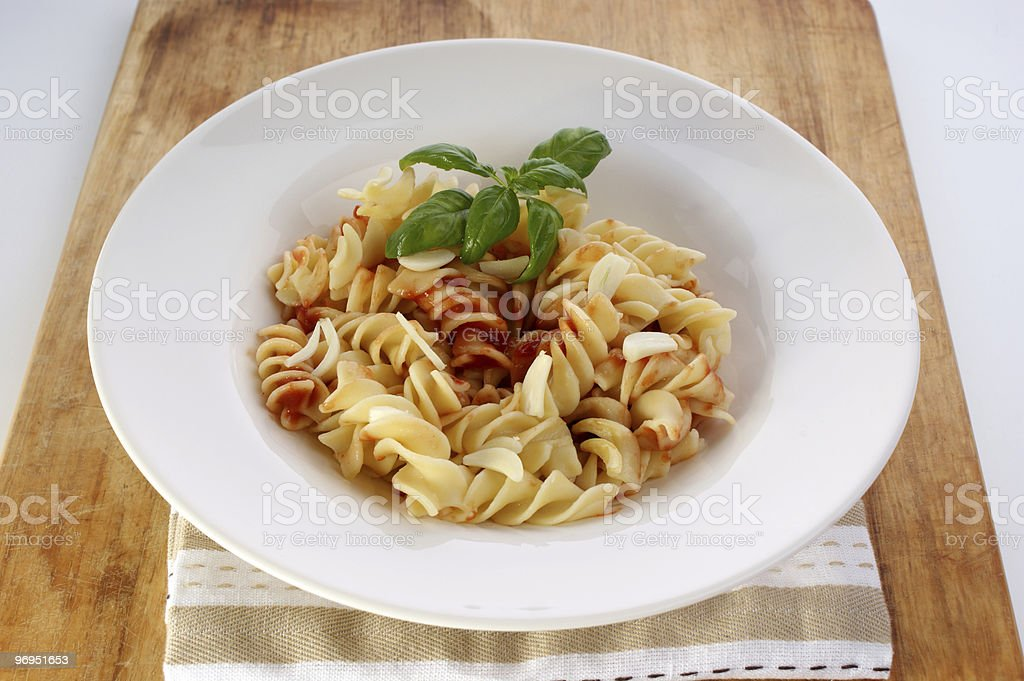 noodle with organic home made tomato sauce royalty-free stock photo