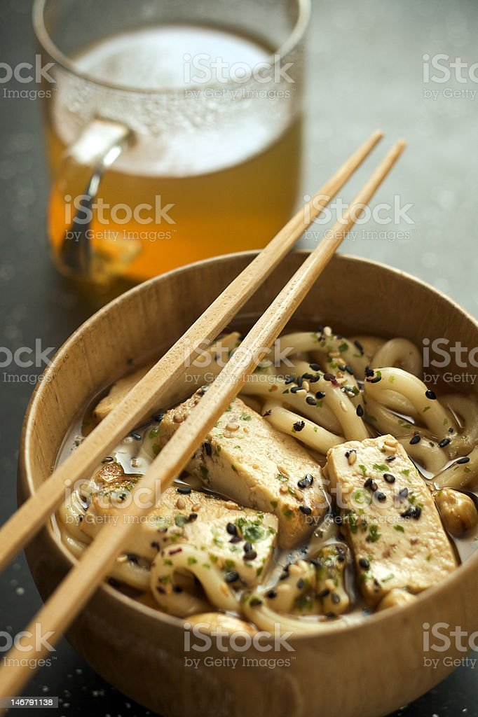noodles and tea royalty-free stock photo