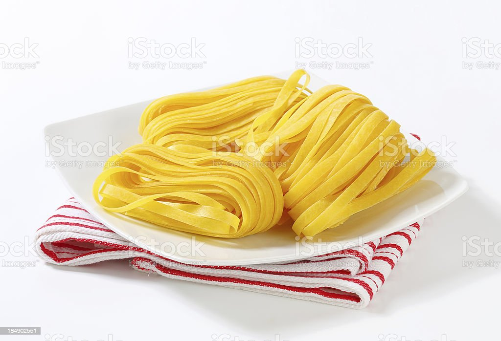 Tagliatelle pasta royalty-free stock photo