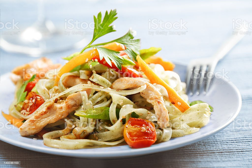 noodles stirfry stock photo