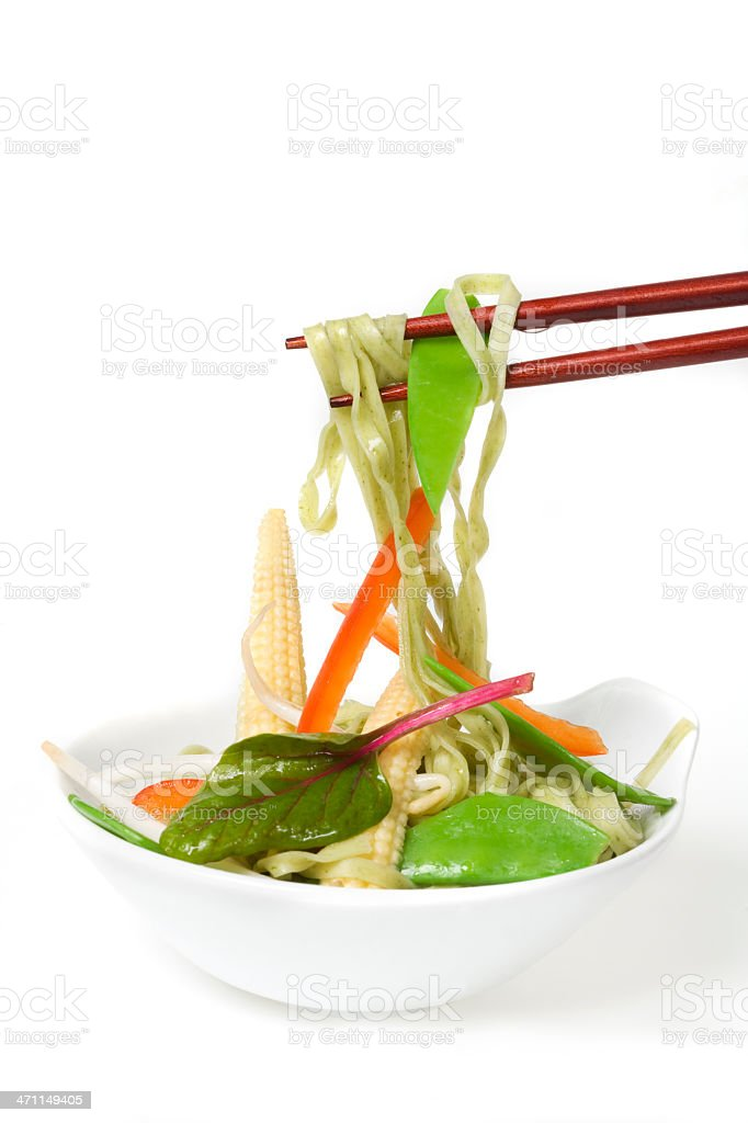 Noodles with vegetables royalty-free stock photo