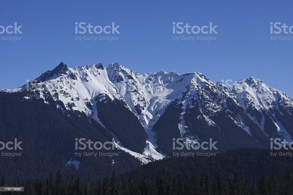 Nooksack Ridge Blue Ice royalty-free stock photo