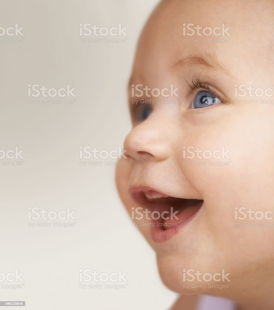 No-one can make her smile like mommy stock photo