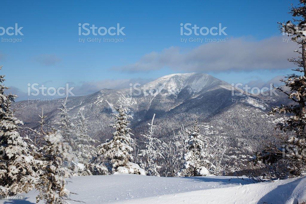 Noonmark Mountain Summit in Winter stock photo