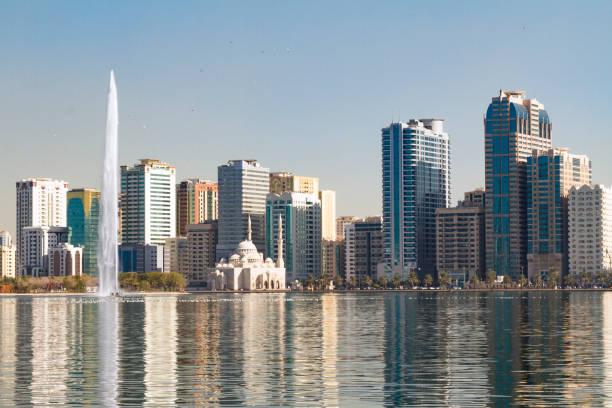 Noor mosque, Sharjah, UAE stock photo