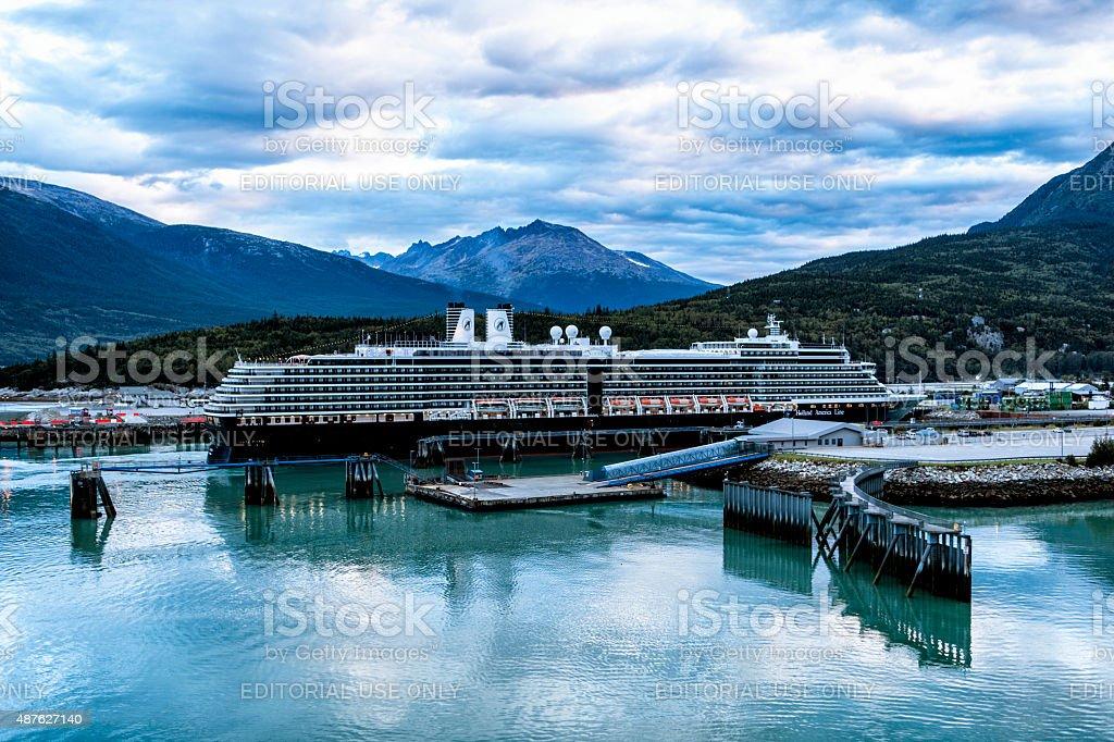 MS Noordam Arriving in Skagway, Alaska stock photo