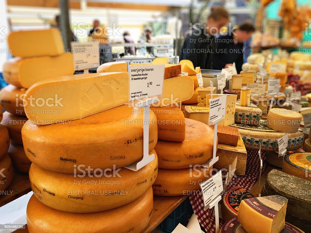 Noordermarkt farmer's market in Amsterdam stock photo