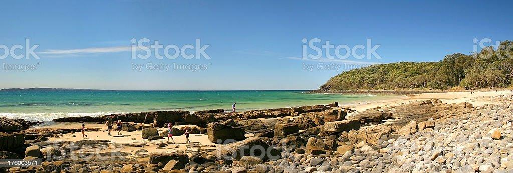 Noosa Beach, Panoramic royalty-free stock photo