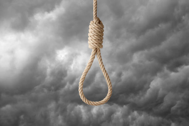 noose and stormy sky - noose stock photos and pictures