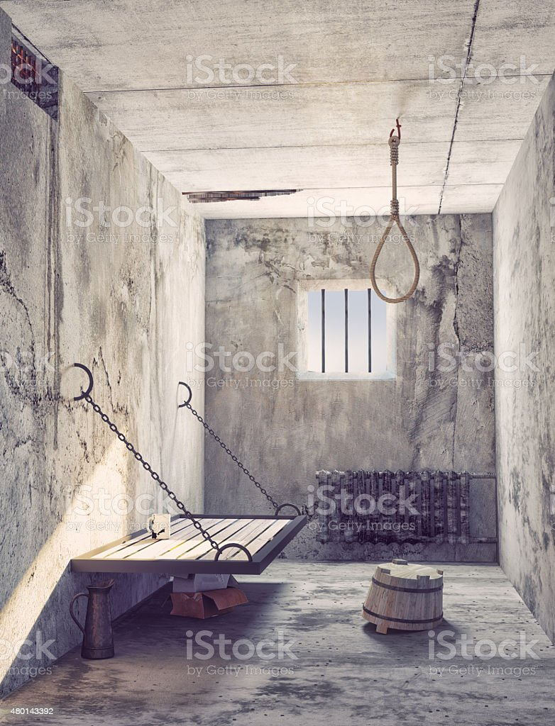 noose in the prison stock photo