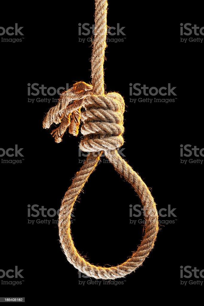 Noose isolated on black stock photo
