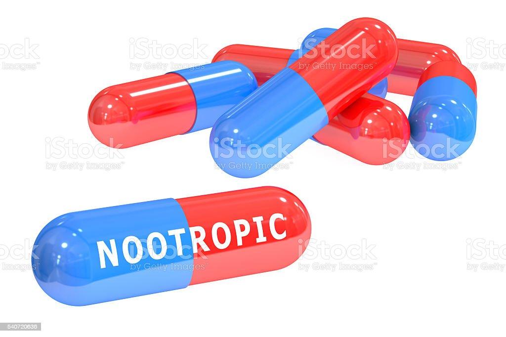 nootropic pills 3D rendering stock photo