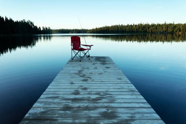 Nopiming Provincial Park Black Lake  Manitoba Canada stock photo