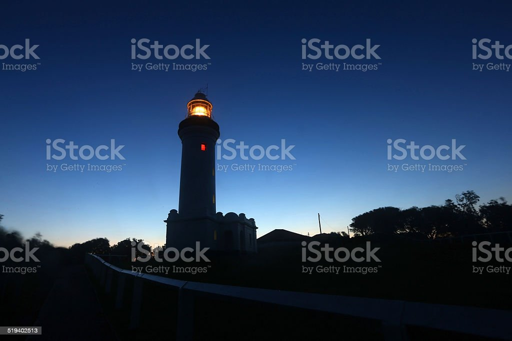 Norah Head Light during Sunset royalty-free stock photo