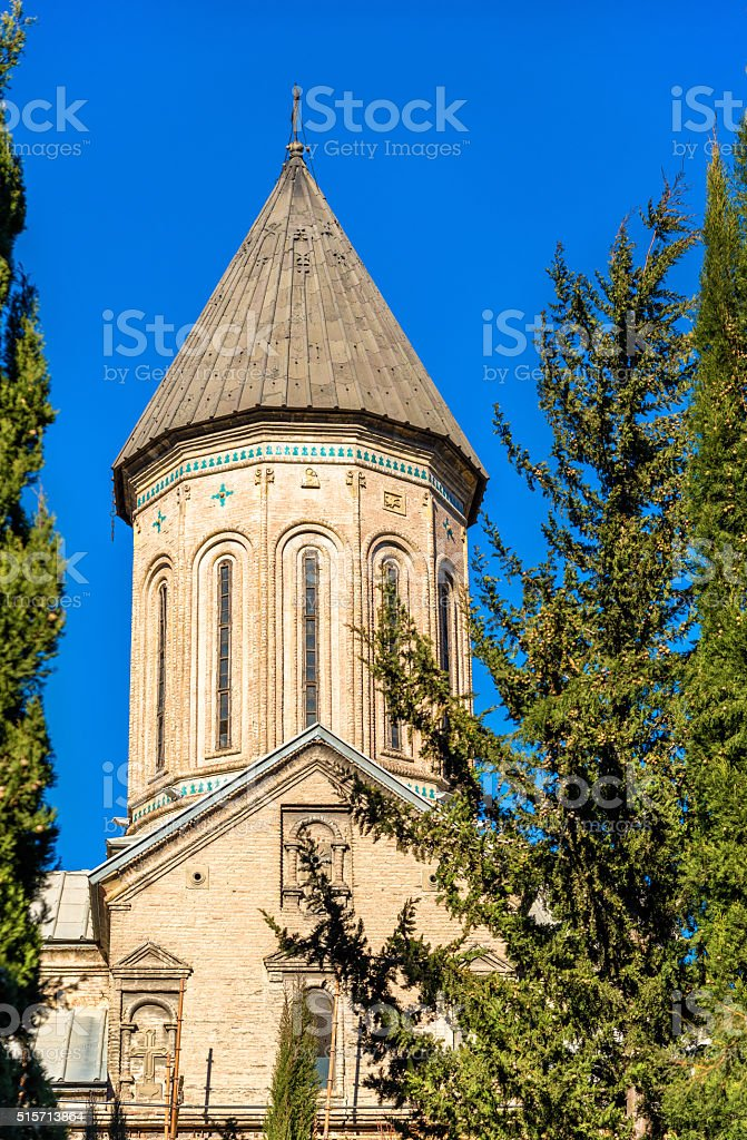Norashen Holy Mother of God Church in Tbilisi stock photo