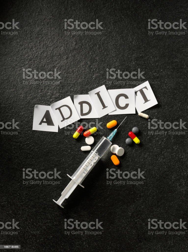 Norcotics and Addict stock photo