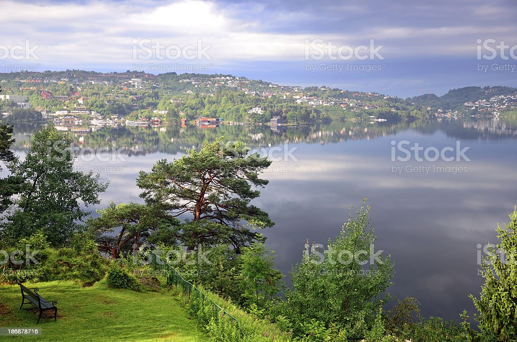 Nordasvannet bay royalty-free stock photo