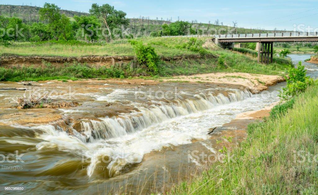 Norden Chute on Niobrara River, Nebraska zbiór zdjęć royalty-free