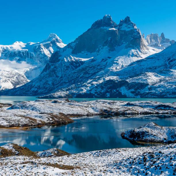 Nordenskjold Lake in Patagonia, Chile stock photo
