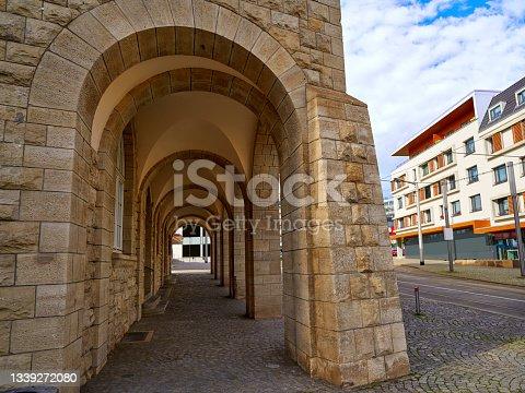 istock Nordhausen stadthaus archs in Harz Germany 1339272080