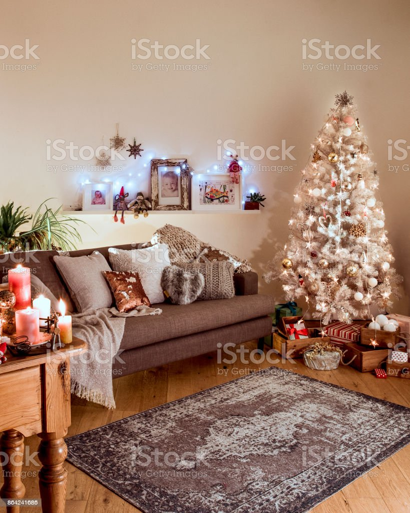 Nordic Christmas With A White Christmas Tree Stock Photo & More ...