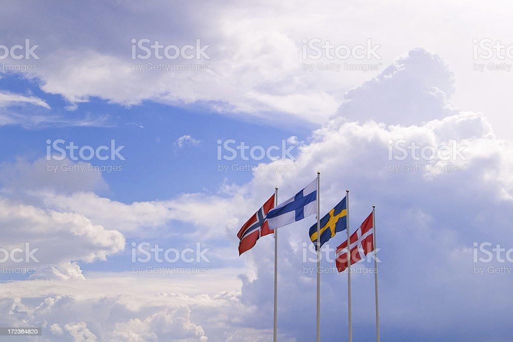 nordischen Flaggen – Foto