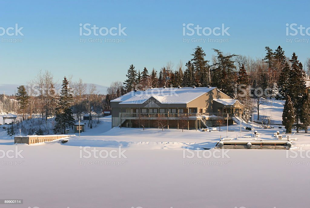 Nordic Resort Building royalty-free stock photo
