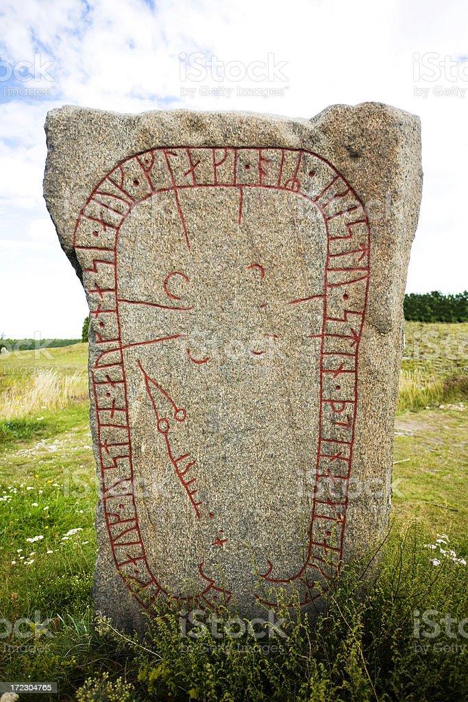 Nordic runes stock photo