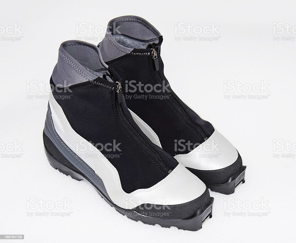 Nordic Ski boots stock photo
