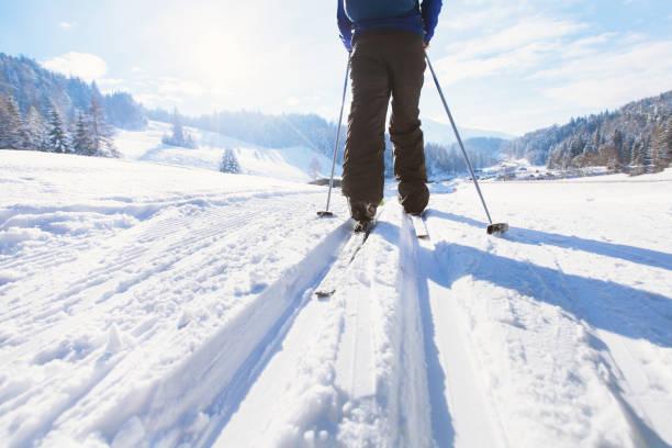 längdskidor - winter austria train bildbanksfoton och bilder