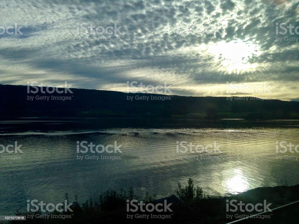 Nordic Sunset stock photo