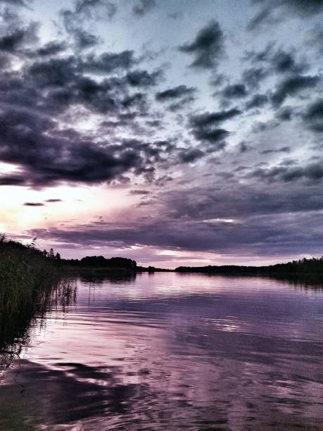 nordic sunset - malin strandvall bildbanksfoton och bilder