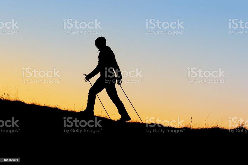 Nordic walking royalty-free stock photo