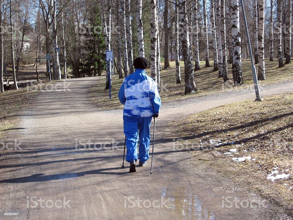 Camminata nordica foto stock royalty-free