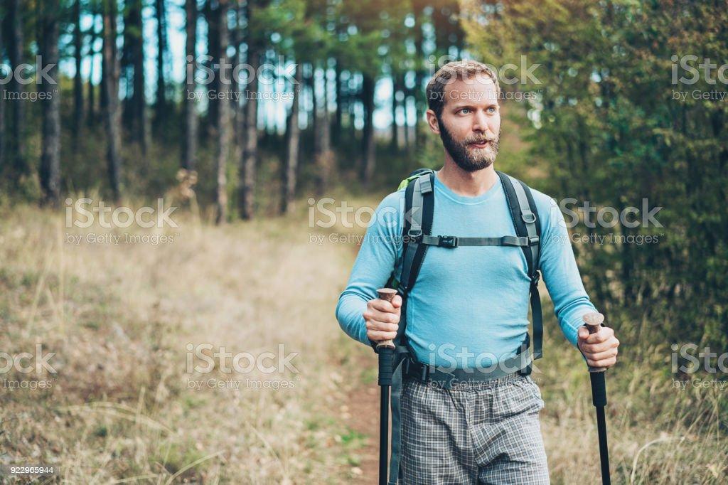 Nordic walking - Lizenzfrei Abgeschiedenheit Stock-Foto