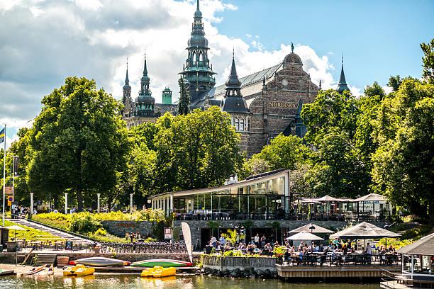 Nordiska Museum and people enjoying summer, Stockholm, Sweden – Foto