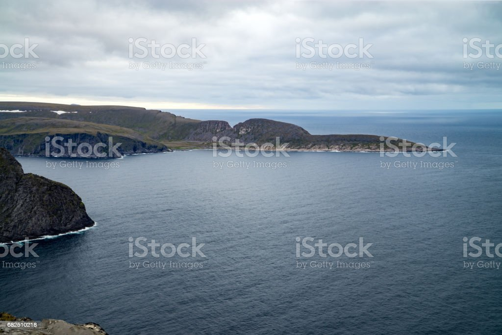 Nordkapp/ North cape summer landscape, Norway stock photo
