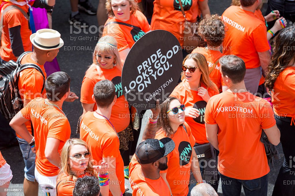 Nordstrom and Seattle Gay Pride Festival 40th Anniversary Celebration stock photo